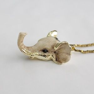 Jewelry - Gold dipped elephant head necklace